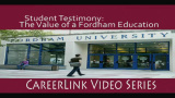 Career Services - Student Testimony: The Value of a Fordham Education