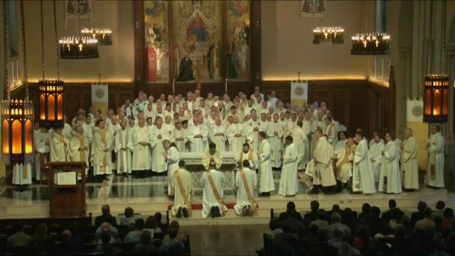 Samual Sawyer, SJ, Mario Powell, SJ, and Thomas Simisky, SJ, ordained to the priesthood