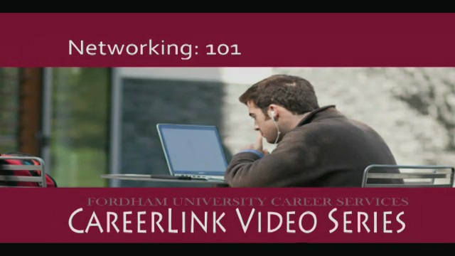Career Services - Networking: 101