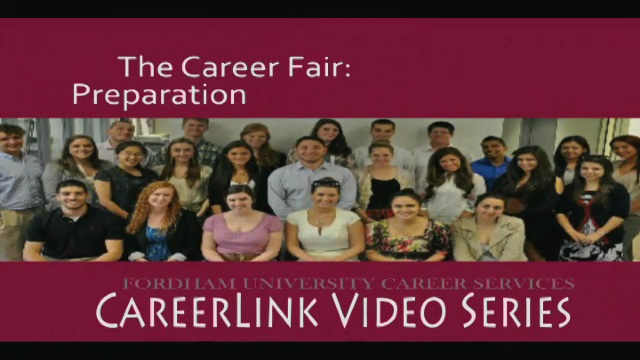 Career Services - The Career Fair: Preparation