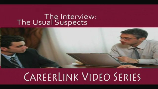 Career Services - The Interview: The Usual Suspects