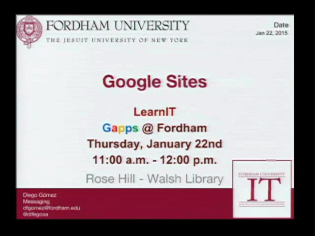 Learn IT - Google Sites