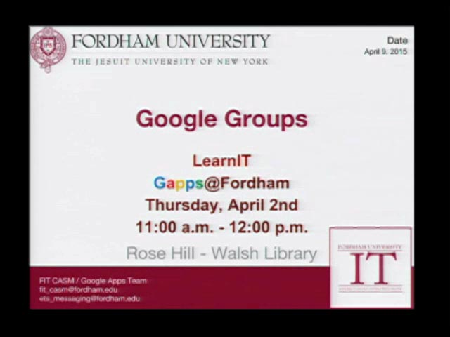 Learn IT - Google Groups
