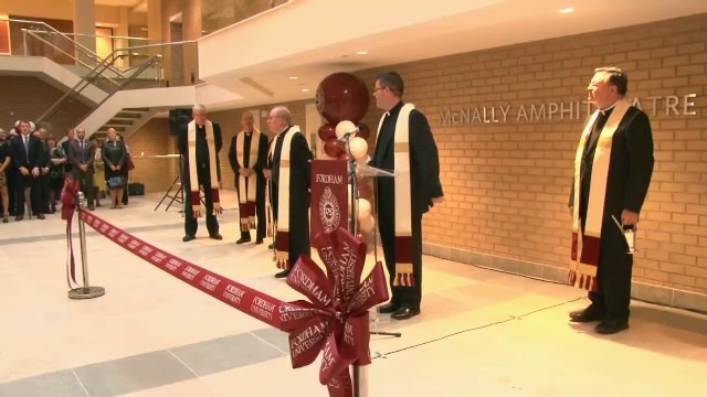 Blessing and Re dedication of 140 West 62nd Street, Fordham University