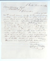 Letter to C.M. Bailey on Nov. 22, 1865 from Boston, MA