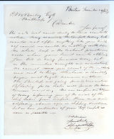 Letter to C.M. Bailey on Nov. 23, 1865 from Boston, MA