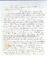 Letter to C.M. Bailey on Nov. 8, 1865 from East Readfield, ME