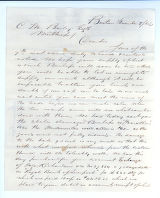Letter to C.M. Bailey on Nov. 8, 1865 from Boston, MA