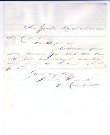 Letter to C.M. Bailey by Daniel Bidwell on Mar. 1, 1866 from New York, NY