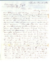 Letter to C.M. Bailey on Mar. 5, 1866 from Boston, MA