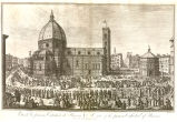 Florence Cathedral with a Procession in Progress
